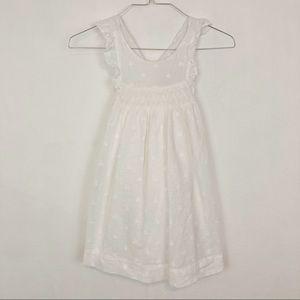 Cyrillus Swiss Dot Ruffled Sun Dress Size 9 White
